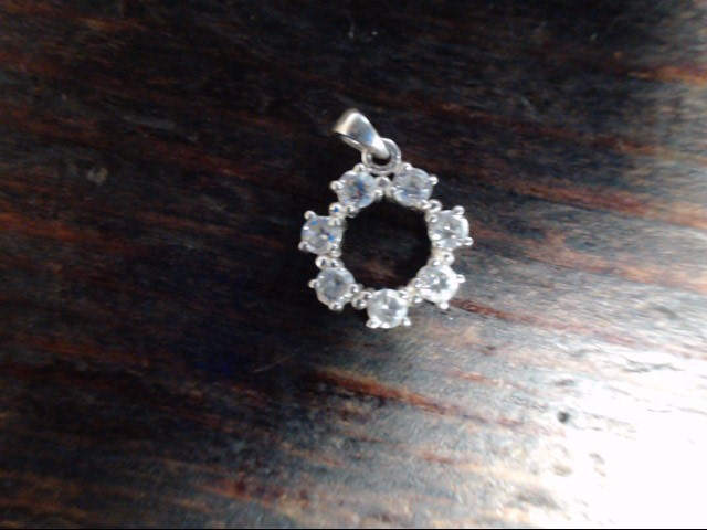 White Stone Silver-Stone Pendant 925 Silver 1.3g