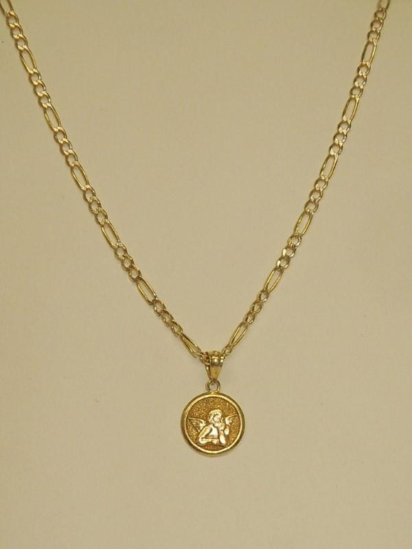 """17"""" Gold Figaro Chain 14K Yellow Gold 4.9g"""