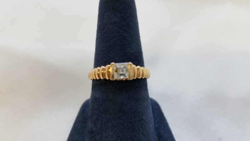 Lady's Diamond Solitaire Ring .30 CT. 14K Rose Gold 2.7g Size:5.5