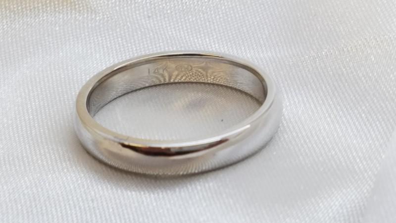 Gent's Gold Wedding Band 14K White Gold 5.4g Size:10