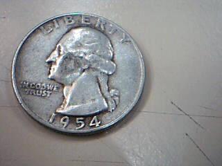 UNITED STATES Silver Coin 1954 QUARTER