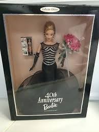 MATTEL 40TH ANNIVERSARY BARBIE # 21384 IN BALLROOM DRESS WITH ROSES