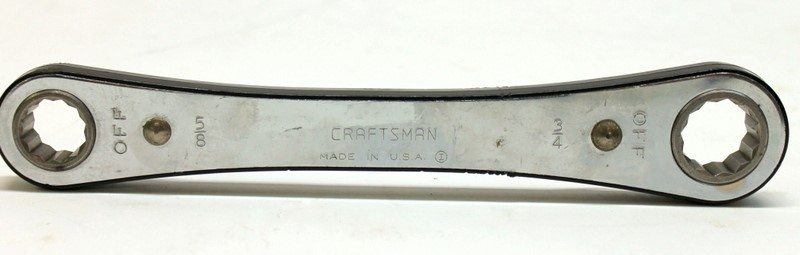 """Craftsman Double Box End Ratchet Wrench 5/8"""" & 3/4"""" Made in U.S.A.>"""