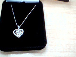 Diamond Necklace .10 CT. 925 Silver 3.7g