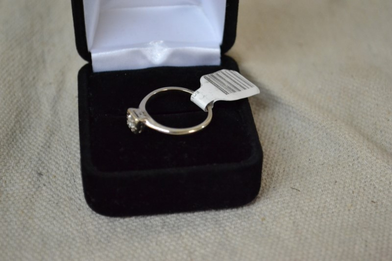 Lady's Diamond Solitaire Ring .10 CT. 14K White Gold 2.3g
