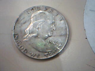 UNITED STATES Silver Coin 1962 FRANKLIN HALF DOLLAR