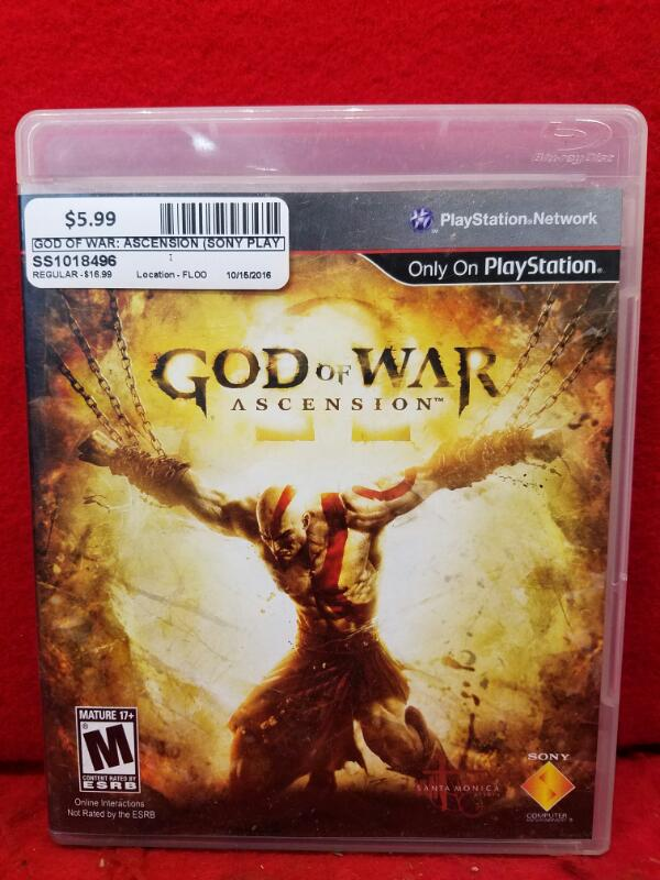 God of War: Ascension (Sony PlayStation 3, 2013)