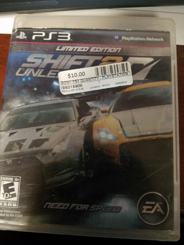 SONY Sony PlayStation 3 Game SHIFT 2 UNLEASHED LIMITED EDITION