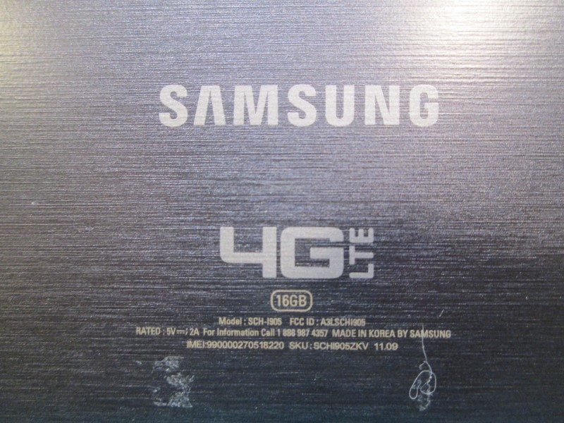 VERIZON 4G LTE 16GB SAMSUNG GALAXY TAB 10.1