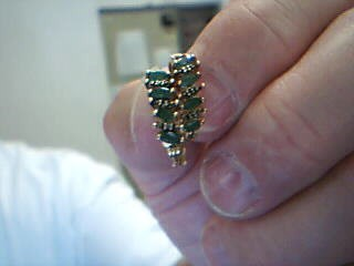 Synthetic Emerald Silver-Stone Earrings 925 Silver 2.8g