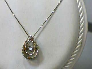 Diamond Necklace .04 CT. 10K Yellow Gold 1.5dwt