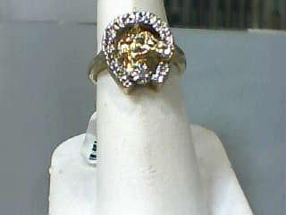Lady's Diamond Fashion Ring .05 CT. 10K Yellow Gold 3dwt Size:6.7