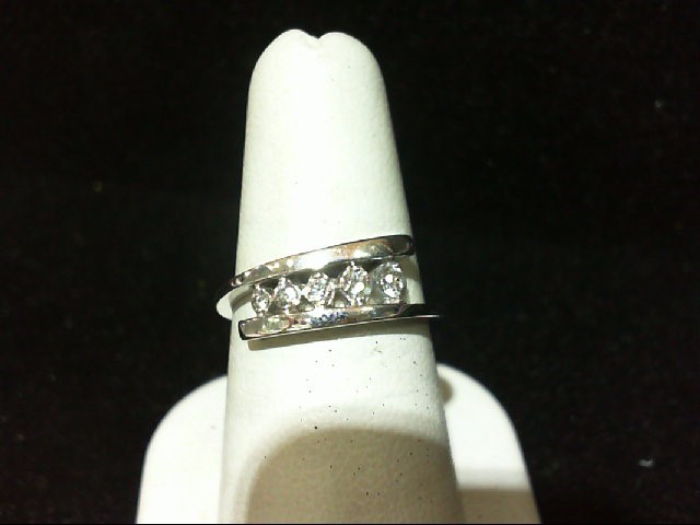 Lady's Diamond Fashion Ring 5 Diamonds .15 Carat T.W. 10K White Gold 2.8g
