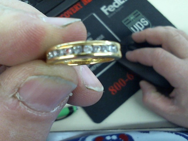 Lady's Diamond Wedding Band 10 Diamonds .50 Carat T.W. 18K Yellow Gold 5.2g