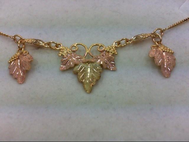 Gold Fashion Necklace 10K BHG Tri-color Gold 6.2g