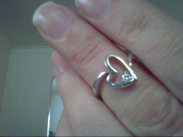 Lady's Diamond Fashion Ring .05 CT. 14K White Gold 2.7g