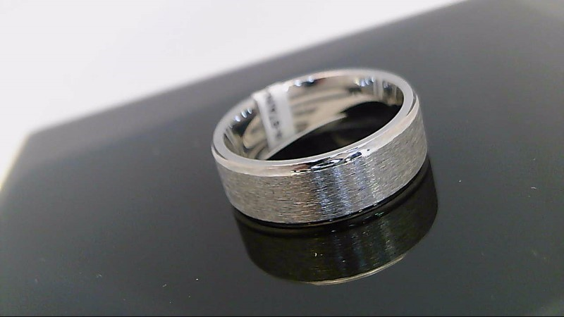 Gent's Wedding Band Silver Stainless 8.8g size 11