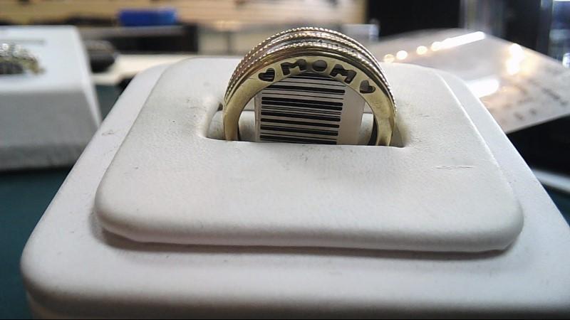 Lady's Diamond Mother's Ring 22 Diamonds .22 Carat T.W. 10K Yellow Gold 2.8g