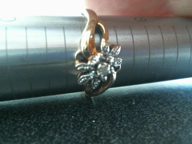 Lady's Diamond Solitaire Ring .03 CT. 10K Yellow Gold 1.6dwt Size:8.8