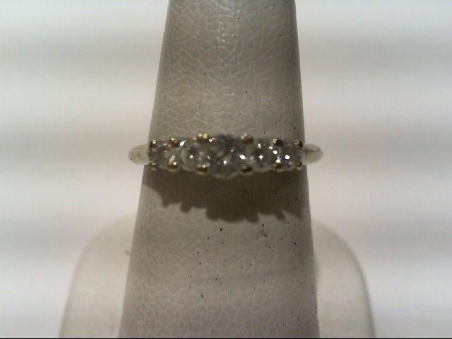Lady's Diamond Wedding Band 5 Diamonds .50 Carat T.W. 14K White Gold 2.1g