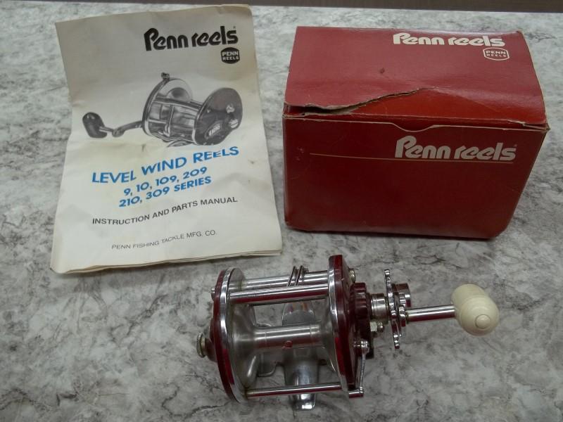 PENN FISHING PEERLESS NO. 9 - WITH ORIGINAL BOX AND MANUAL