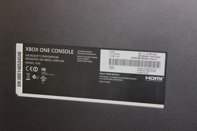 Microsoft Xbox One with Kinect, Black - Model # 1540