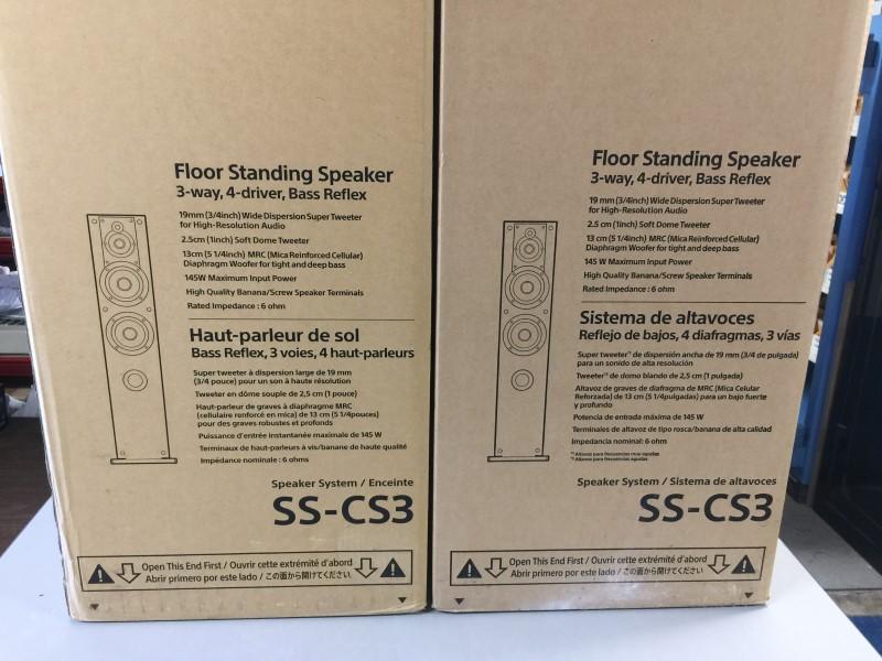 """SONY SS-CS3 Core Series Dual 5"""" 3-Way Floorstanding Speaker PAIR"""