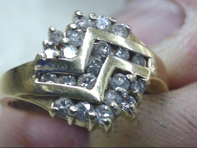 Lady's Diamond Cluster Ring 21 Diamonds .42 Carat T.W. 14K Yellow Gold 4.2g