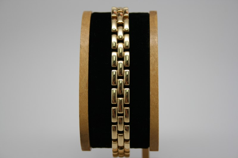 FANCY LINK BRACELET 18K YELLOW GOLD 7.5""