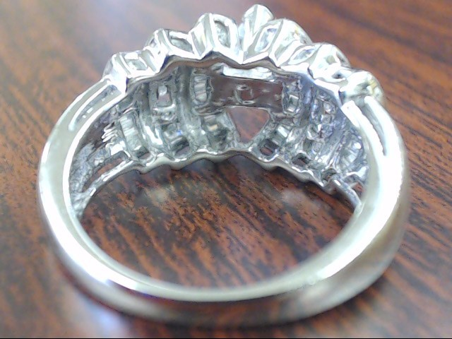 VINTAGE MARQUISE NATURAL DIAMOND RING SOLID 14K WHITE GOLD ENGAGE