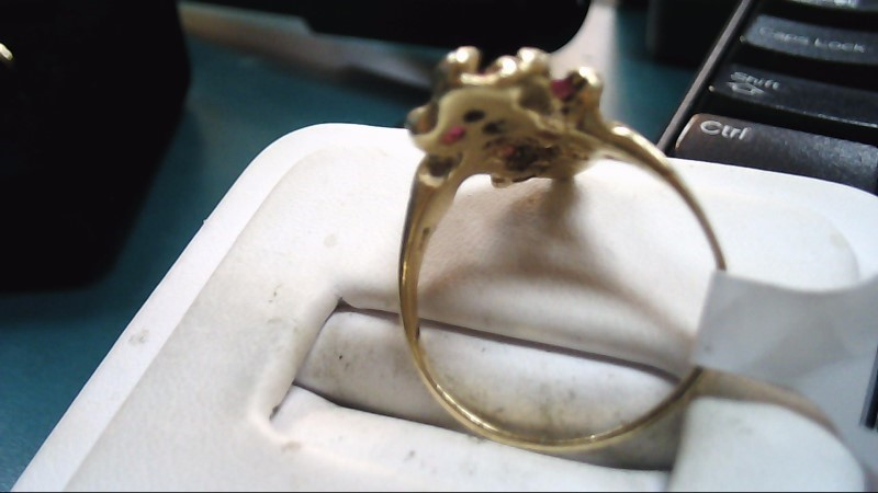 Lady's Diamond Fashion Ring 3 Diamonds .72 Carat T.W. 14K Yellow Gold 3g