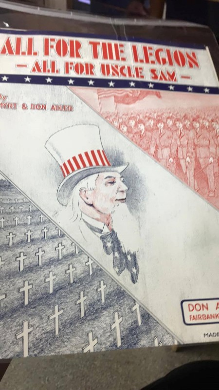 ALL FOR THE LEGION ALL FOR UNCLE SAM BY MYRT & DON ADLER