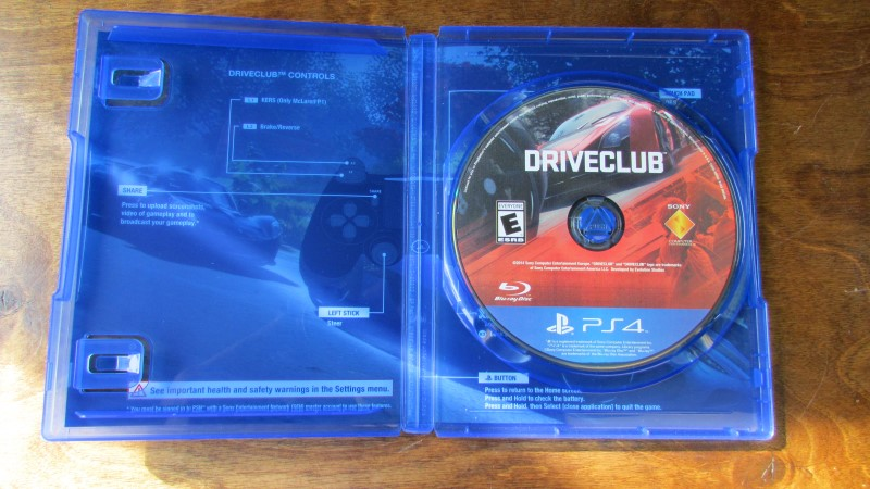 SONY Sony PlayStation 4 Game DRIVECLUB - PS4
