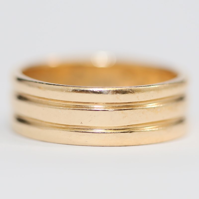 Men's Masonic 14K Yellow Gold Diamond Ring Size 11