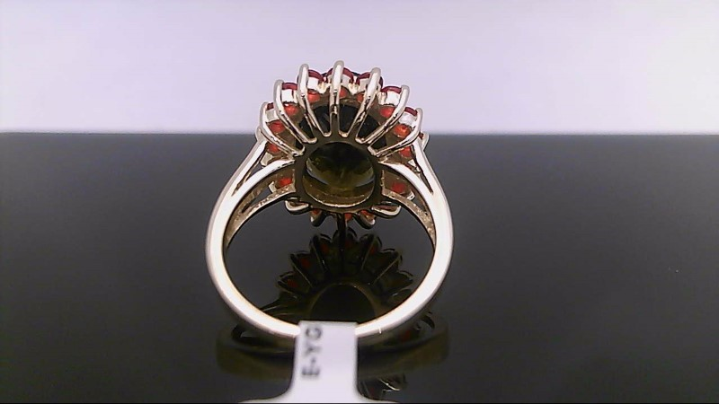 Brown Stone Lady's Stone Ring 14K Yellow Gold 5.9g