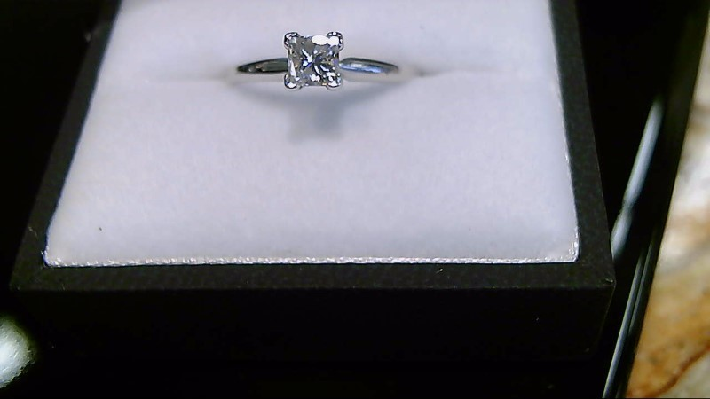 Lady's Diamond Solitaire Ring .41 CT. 14K White Gold 1.7g