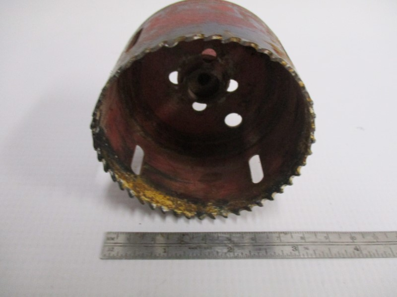 USED HOLE SAWS, LOT OF 12 PLUS 1 DRILL BIT - MILWAUKEE, MORSE, ETC.
