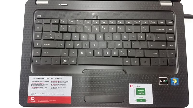 HEWLETT PACKARD LAPTOP CQ62