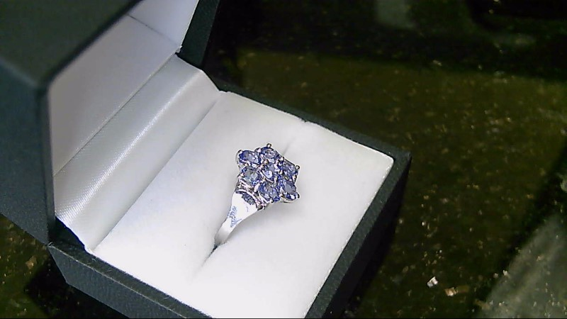 Lady's Tanzanite Sterling Silver Ring Size 7