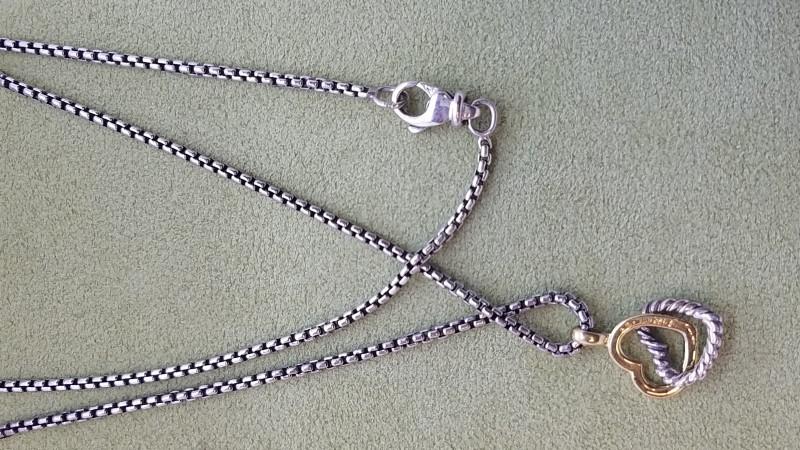 """David Yurman 16"""" Silver Fine Chain 925 Silver 6.4g"""
