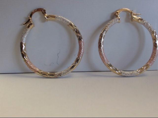 Gold Earrings 14K Tri-color Gold 5g