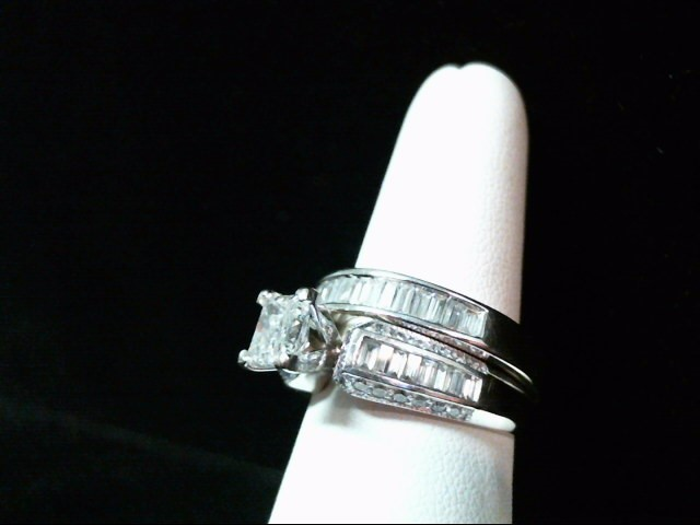 Lady's Diamond Wedding Set 59 Diamonds 2.57 Carat T.W. 14K White Gold 11.9g