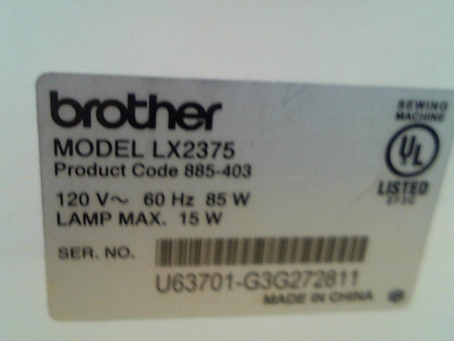 BROTHER Sewing Machine LX2375
