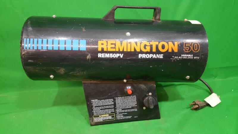 REMINGTON REM50PV 30-40-50 VARIABLE  BTU FORCED AIR PROPANE PORTABLE HEATER