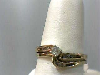 Lady's Diamond Wedding Set 10 Diamonds .19 Carat T.W. 14K Yellow Gold 2dwt