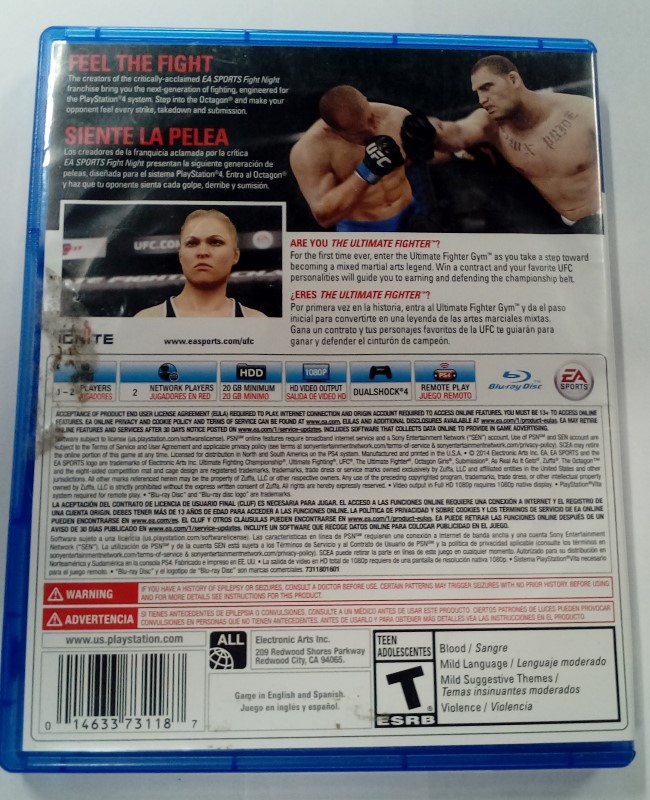 SONY PS4 PLAYSTATION 4 GAME EA SPORTS UFC