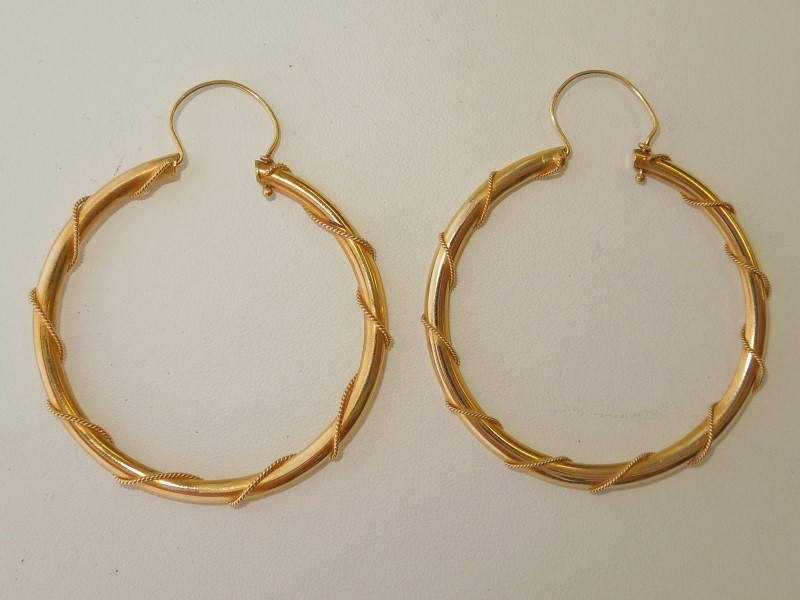 Gold Earrings 18K Yellow Gold 7.2g