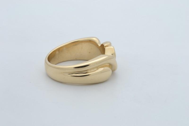 ESTATE 3 DIAMOND RING BAND SOLID 14K YELLOW GOLD MEN WEDDING HEAVY 7