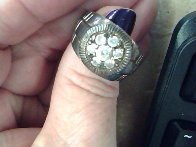 Gent's Silver & Stone Ring 925 Silver 15g Size:10
