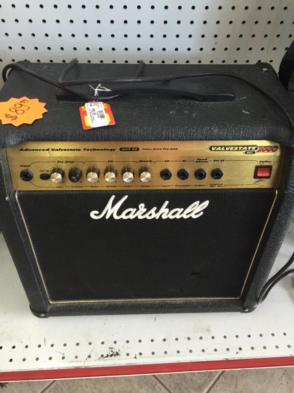 VALVASTATE_2000 AMP-GUITAR MARSHALL  TESTED BLACK